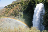 Fabulous rainbow at the foot of the falls Marmore — Stock Photo