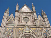 Detail of the facade of Orvieto Cathedra — Stock Photo