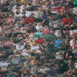 Wild screaming fans in the stadium during a football match - Photo