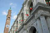 Tower of the basilica palladiana in vicenza in italy and Italian — Stock Photo