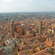 Aerial view over the city of Bologna in the emilia romagna regio - Stock Photo