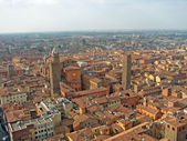 Aerial view over the city of Bologna in the emilia romagna regio — Stock Photo