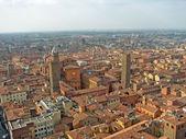 Havadan görünümü şehri bologna emilia romagna regio — Stok fotoğraf