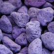 Lava and pumice tinted purple and blue — Stock Photo