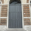 Stock Photo: Sturdy door closed steel of building of Bank of Italy
