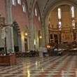Interior of the Cathedral of vicenza with the marble flooring — Stok fotoğraf