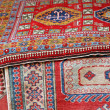 Collection of oriental carpets and precious Persians for sale - Foto Stock