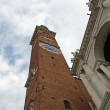 Highest civic Tower of the Basilica palladiana di Vicenza from b — Stock Photo