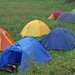 Color sette tende ad igloo per la notte dei pellegrini — Foto Stock