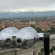Stock Photo: Binoculars to watch landscape of city of vicenza