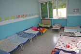 Little lounges of a dormitory of a nursery — Stock Photo
