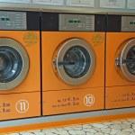 Electronic automatic washing machines for washing the laundry — Stock Photo #14210277