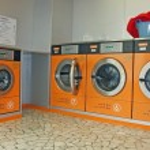 Electronic automatic washing machines for washing the laundry — Stock Photo #14210281