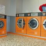 Electronic automatic washing machines for washing the laundry — Stock Photo #14222175