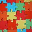 Puzzle pieces of a complicated game — Stock Photo