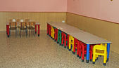 Refectory of a kindergarten — 图库照片