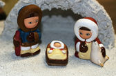 Nativity ethnic with the Holy family of Nazareth — Stock Photo