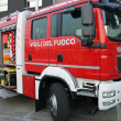 Stock Photo: Fire truck with equipment to extinguish fires