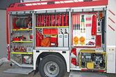 Sprzęt ratowniczy wewnątrz strażacki — Zdjęcie stockowe