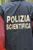 Italian scientific police with the jacket — Stock Photo