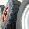Wheels and tires for large trucks ready for installation — Stock Photo