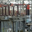 Substation with big switches and breakers — Stock Photo
