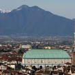 Panorama of the city of vicenza with the Basilica — Stock Photo