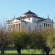 Historic Italian Palladian villa called La Rotonda - Stock Photo