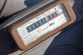 Gas meter with rusty viewer display — Stockfoto