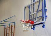 Hoop for workout inside a gym in a middle school — Zdjęcie stockowe