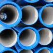 Concrete pipes for transporting water and sewerage — Stock Photo #19946657