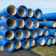 Concrete pipes for transporting water and sewerage — Stock Photo #19946701