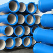 Concrete pipes for transporting water and sewerage — Stock Photo
