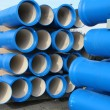 Concrete pipes for transporting water and sewerage — Stock Photo #19946803