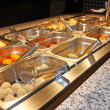 Tray filled with food inside the self service Chinese restaurant - Foto de Stock