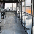 Empty seats inside the bus for transport of persons — Stock Photo
