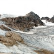 Dirty black glacier in the Alps — Stock Photo