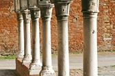 Cloisters in Venice with a series of column — Stock Photo