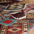 Textures and background of handmade carpets and rugs - Stock Photo