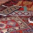 Stock Photo: Textures and background of ancient handmade carpets