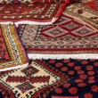 Textures and background of ancient handmade carpets and rugs — Stock Photo