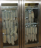 Temperature controlled refrigerator for maintaining of Salamis a — Stock Photo