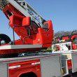 Cabin with command console fire trucks to manoeuvre automa — Stock Photo #22571425