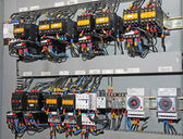 Fuses and switches ammeters and measuring instruments in an indu — Stock Photo