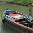 Stock Photo: Freight barge moored on the Canal before loading
