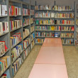 Public library with many books to borrow — Foto Stock