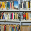 Public library with many books to borrow — Stock fotografie