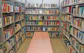 Public library with many books to borrow — Стоковое фото