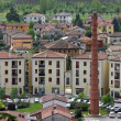 Smokestack and country homes in the province of vicenza and the — Stockfoto