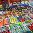Stock Photo: Many useful tools for sale in hardware store